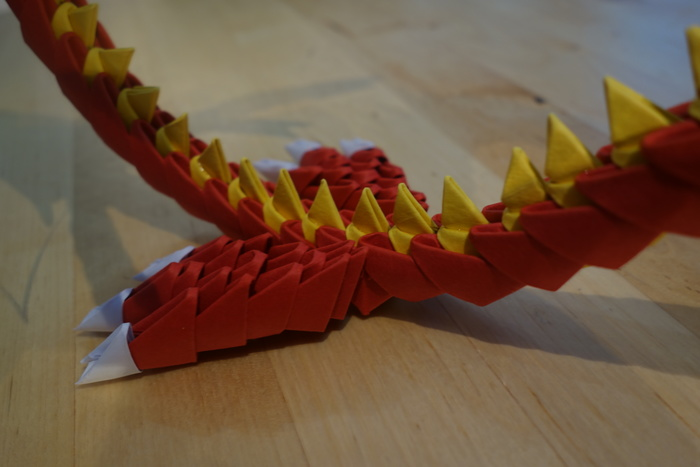 3D Origami - Dragon | PaperCraftCentral.net | Origami dragon, 3d ... | 467x700